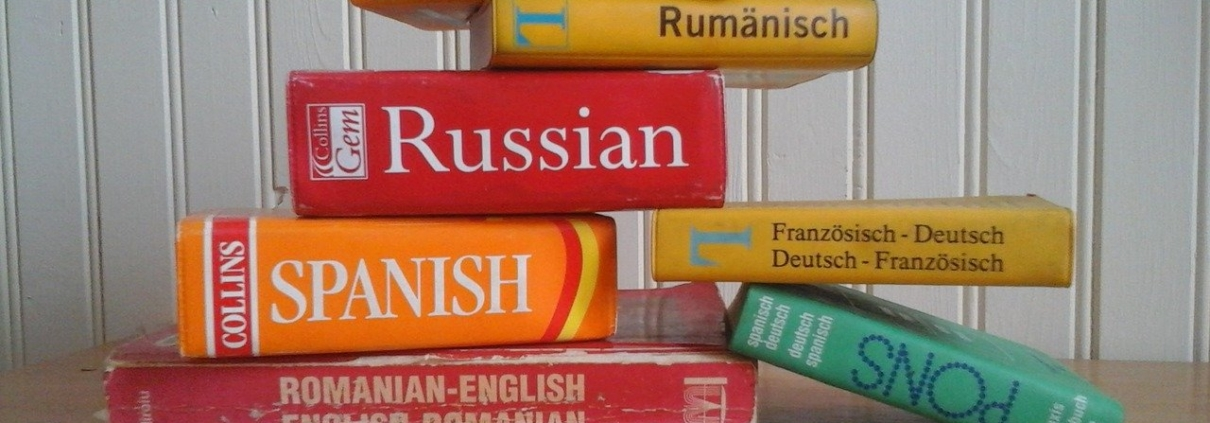 Several different dictionaries for overcoming language barriers